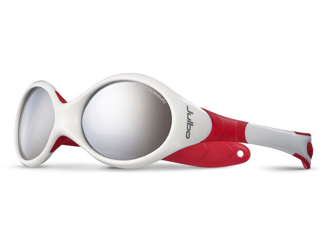 Julbo Looping II Spectron 4 Sunglasses 12-24M Kinder white/red-gray flash silver